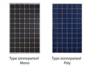 mono en poly zonnepaneel